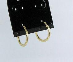 14k Yellow Gold Hoop Earrings Pee Round Rope Design Qvc 5 8