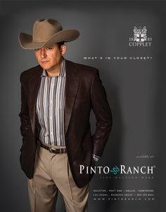 As seen in the October 2013 issue of Texas Monthly. One of our first fashion ads for just for men, featuring the new Coppley western sport coat and slacks. Mens Western Suits, Western Sport Coat, Western Show Clothes, Western Wear, Mens Casual Sport Coat, Mens Casual Suits, Best Dressed Man, Sharp Dressed Man, Cowboy Outfits
