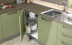 Cucina angolare moderna - Composizione 0464 - Dettaglio base con smart corner