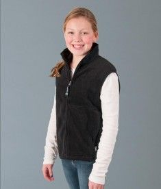 Charles River Apparel Style 8503 Youth Ridgeline Fleece Vest #youthclothing #outerwear