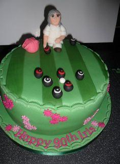 Bowling 80 Birthday Cake, Birthday Ideas, Bowl Cake, Novelty Cakes, Themed Cakes, Bowling, Food Hacks, Cake Recipes, Cake Decorating