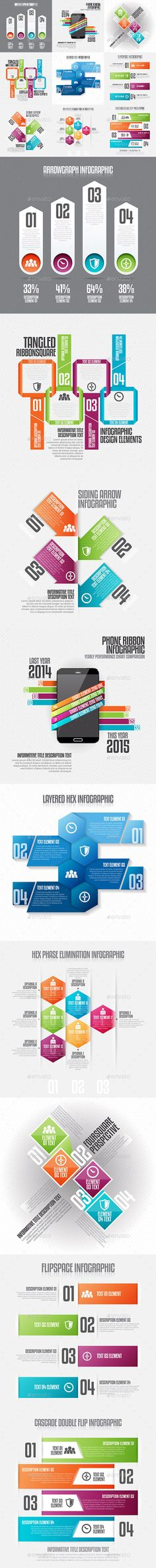 Infographic Set Template PSD, Vector EPS, AI #design Download: http://graphicriver.net/item/infographic-set-20/12999654?ref=ksioks