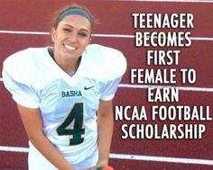 Becca Longo | First female NCAA football player | college football | girl power