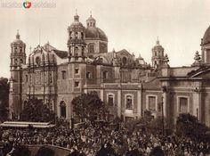 La Basílica en la Villa de Guadalupe (circa 1920) - Fotos de Ciudad de México, Distrito Federal, México