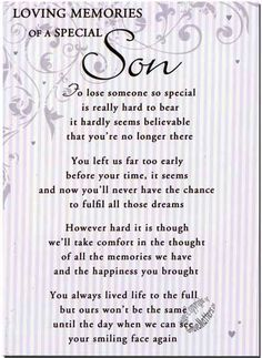 In Loving Memory Quotes for Son