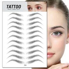 False Eyebrows, Natural Eyebrows, Semi Permanent Eyebrows, Eyebrow Kits, Eyebrow Makeup, Eyebrow Pencil, Makeup Eyes, Tattoo Sticker