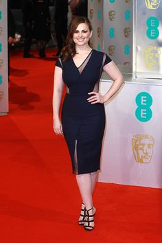 Hayley Atwell attends the EE British Academy Film Awards at The Royal Opera House on February 8, 2015 in London, England