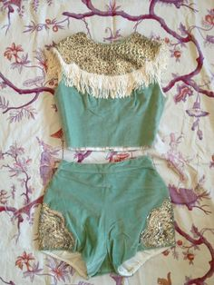 I'm thinking burning man outfit. amazing showgirl/circus/ cowgirl 1950s costume S/M by pinkbanana3, $260.00