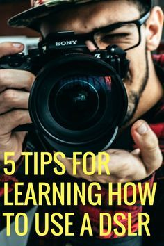 Photography tips for beginners: learning to use a DSLR camera.