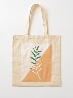 """Modern minimal style olive tree branch illustration "" Tote Bag by sziszigraphics Diy Tote Bag, Cute Tote Bags, Printed Tote Bags, Canvas Tote Bags, Painted Canvas Bags, Embroidery Bags, Cloth Bags, Cotton Tote Bags, Olive Tree"