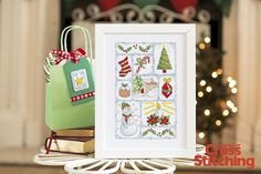 Cross stitch a patchwork-style Christmas! Look for the pattern in issue 208 of The World of Cross Stitching magazine