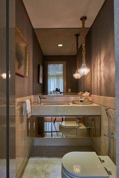 Apartamento AC : Banheiros modernos por Espaço Gláucia Britto