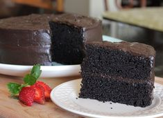 This is by far the best chocolate cake recipe you'll ever make. Use Hershey's Special Dark. You'll never make a box cake again. Espresso Cake, Chocolate Espresso, Köstliche Desserts, Delicious Desserts, Dessert Recipes, Cupcake Recipes, Dark Chocolate Cakes, Homemade Chocolate, Flourless Chocolate