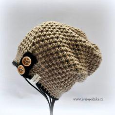 Dospělácká homeleska Tulip – Krampolínka Crochet Kids Hats, Love Crochet, Crochet Clothes, Spring Hats, Slouchy Hat, Baby Hats, Hand Embroidery, Unisex, Knitting