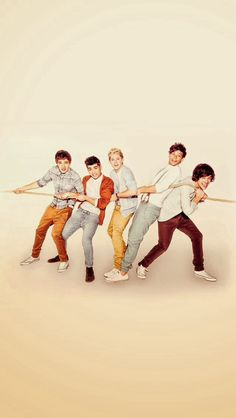 One Direction Hold on Louis, Liam, Harry, Nial, and Zayn