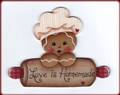 6 Love is Homemade Gingerbread wood ornaments to paint - Pamela House design Gingerbread Ornaments, Gingerbread Decorations, Christmas Gingerbread, Wood Ornaments, Christmas Art, Christmas Decorations, Christmas Ornaments, Gingerbread Cupcakes, Country Paintings
