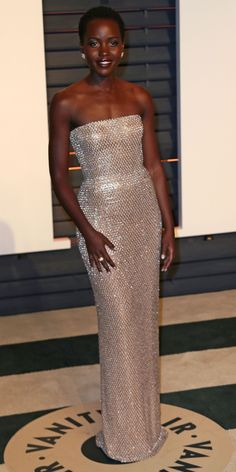 Lupita Nyong'o's Red Carpet Style - In Calvin Klein Collection, 2015  - from InStyle.com