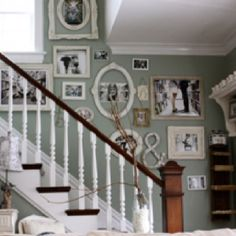 Great picture wall and paint color
