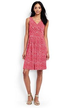 Women's+Fit+and+Flare+Dress+-+Print+from+Lands'+End