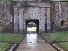 Entrance to Fort Morgan Mobile, Al