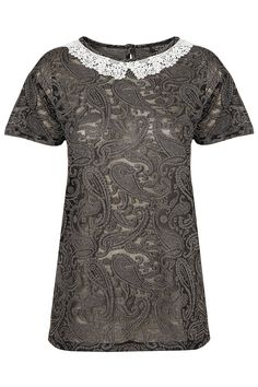 Paisley Lace Collar Tee - New In This Week - New In - Topshop USA