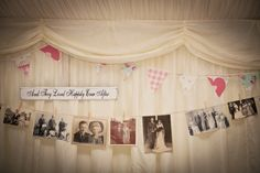 Vintage family wedding photos on display: And They Lived Happily Ever After