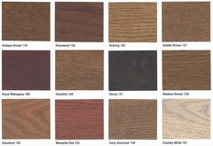 Stain colors: Want to stain your new or newly resurfaced wood floors? Rhodes Hardwood offers many different shades of wood floor stains; from modern gray. Hardwood Floor Stain Colors, Types Of Wood Flooring, Wood Stain Colors, Hardwood Floors, Color Swatches, Family Room, Kitchens, Wood Floor Tiles, Wood Flooring