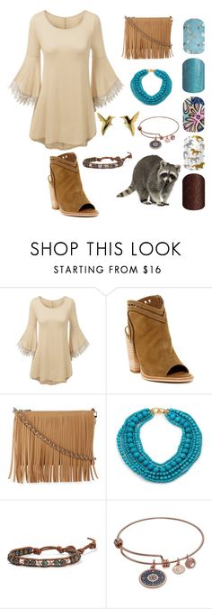 """""""Pocahontas"""" by jasc-jams ❤ liked on Polyvore featuring Dolce Vita, Posse, Kenneth Jay Lane, Jana Reinhardt, Chan Luu, Love This Life, Fountain, nailart, disney and jamberry"""