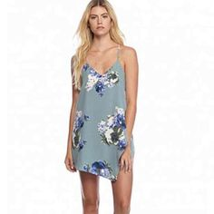BNWT Free People Cascade Floral Mini Slip Brand new with tags - Free People Cascade Floral Mini Slip - Slate Blue This gorgeous mini slip features stunning cascading floral detailing. The racer back adds to the feminine appeal. Size M - Also have size XS and S Retail Price $68 Free People Dresses Mini