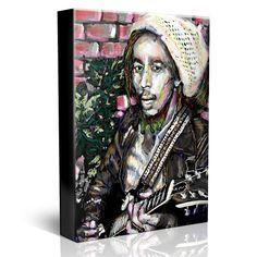 Bob Marley Painting, Marley Original Canvas Art Print
