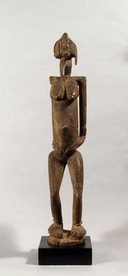 Female figure. Africa. c. 1780. Wood. h 66.25 cm. Acquired 1993. Robert and Lisa Sainsbury Collection. UEA 1094
