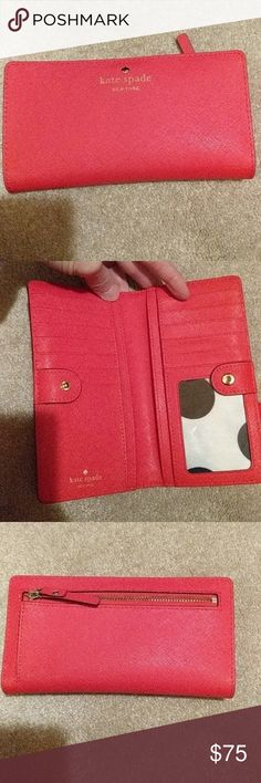 Kate spade wallet Adorable Kate Spade wallet. It is used but in good shape! kate spade Accessories