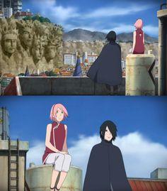 Sakura and Sasuke (Boruto the Movie) - Screencaps by me