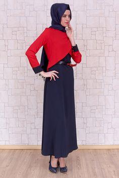 Omuzu Düğmeli Nar Çiçeği Elbise, polyester kumaştan, astarsız ve 140 cm boyunda Pay Butik tarafından üretilmiştir.