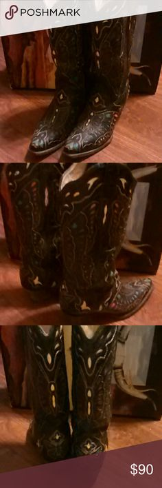 Abilene Cowboy Boots Butterfly Stitching Abilene Cowboy Boots worn in great condition. These have butterfly stitching. Absolutely beautiful. 7 m Happy Poshing Any questions please feel free to ask. Abilene Shoes Ankle Boots & Booties