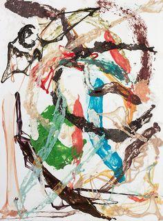 DAN COLEN | Happy Accidents, Happy Endings, 2010 | chewing gum on canvas