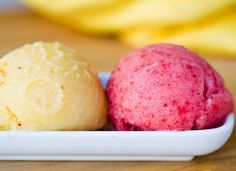 Summer Sorbet: If you've been craving a cup of gelato, then opt for a fruit-filled Summer sorbet. They're surprisingly simple to make and pack a big punch of refreshing flavor. Creamy banana pineapple and strawberry banana are pictured here.
