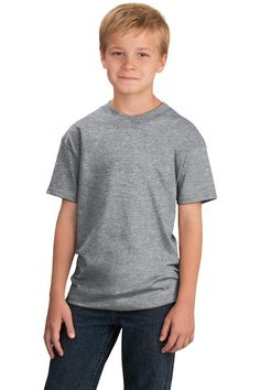 Port & Company - Youth 5.4-oz 100% Cotton T-Shirt. PC54Y Athletic heather