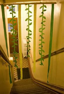 Vines as decor for Isaac\'s first birthday