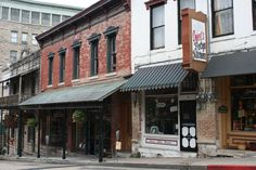Eureka Springs, Ark. - Sweets Fudge and row of storefronts.