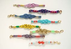 Ahoy! DIY nautical knot bracelets, for a salty summer look.