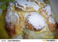 Pochoutková žemlovka recept/VYZKOUŠENO Slovak Recipes, Czech Recipes, Sweet Pastries, Bellisima, Camembert Cheese, French Toast, Food And Drink, Ice Cream, Eggs