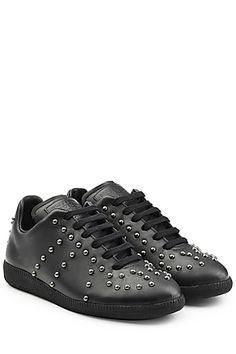 Embellished Leather Sneakers - Maison Margiela | STYLEBOP.com