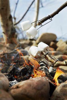 Een man uit Zweden kampeerde met zijn kleinzoon en maakte met een enkel stuk staaldraad de meest fantastische vuurvork die we ooit hebben gezien. Zo is deze Grandfather's firefork onstaan. Met deze vuurvork kun je marshmellows, stokbrood, maiskolven,worstjes, vis en alles wat je nog meer kunt bedenken roosteren. Leuk voor bij het kampvuur of vuurkorf. De vork is makkelijk te bevestigen op een stok of tak door de klem in te drukken en over de stok te schuiven. Deze vuurvorken kun je per 2 ...