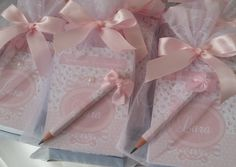 bloquinho de anotações + mini lápis + sacolinha de organza! Ótima opção para lembrancinha de matern - mimosbabyartes
