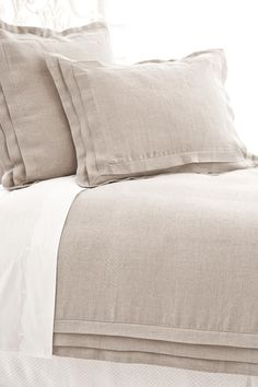 linen duvet cover & shams from pinecone hill
