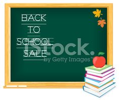 Back To School Sale Template royalty-free stock vector art