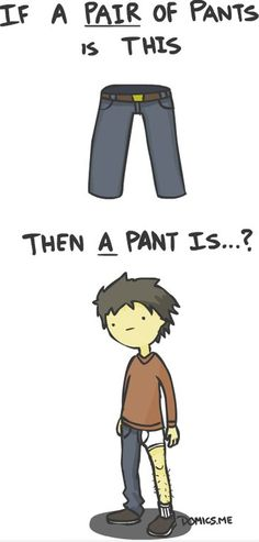 Pair of Pants vs Pant