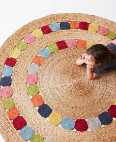 Armadillo and Co Flower Weave - Polka Dandelion Rug