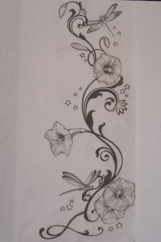 side tattoo. This would be wicked with humming birds